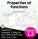 Properties of Functions with Lesson Video (Unit 1)