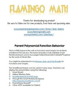 PreCalculus: Parent Polynomial Function Behavior