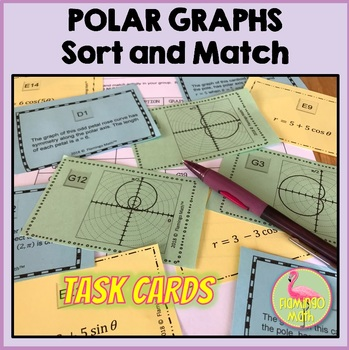 PreCalculus: Polar Graphs Sort and Match Task Cards