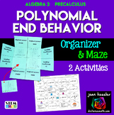 Polynomial Functions End Behavior Foldable and Maze