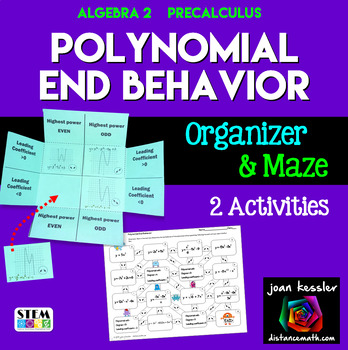 PreCalculus Polynomial End Behavior  Foldable and Maze