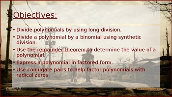 PreCalculus: Polynomial and Synthetic Division