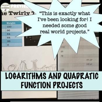 PreCalculus Curriculum Project Bundle for 6 PreCalculus Topics