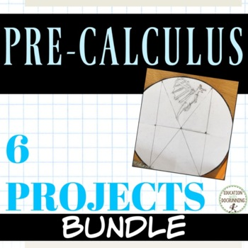 PreCalculus Curriculum Project Bundle for 6 PreCalculus Topics