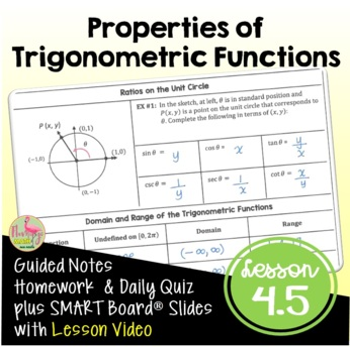 PreCalculus: Properties of Trigonometric Functions