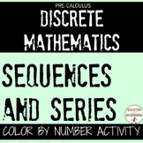 PreCalculus Sequences and Series Color by number Activity