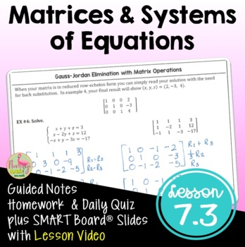 PreCalculus: Solving Systems - Matrices