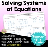 Solving Systems of Equations with Lesson Video (Unit 7)