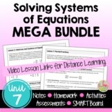 Systems and Matrices MEGA Bundle with Lesson Videos (Unit 7)