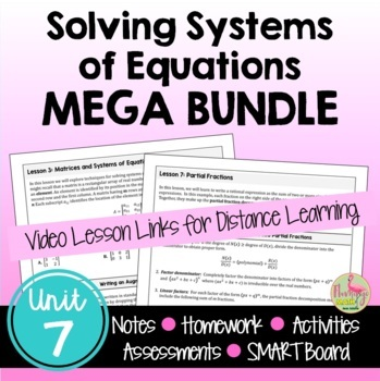 PreCalculus: Systems and Matrices Bundle