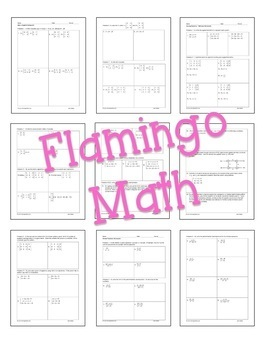 PreCalculus: Systems and Matrices Homework Bundle