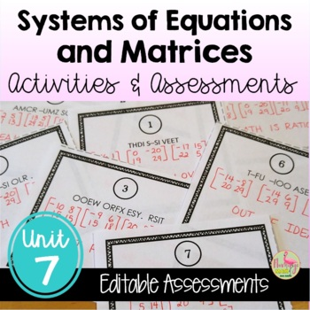 PreCalculus: Systems and Matrices Review & Assessment Bundle