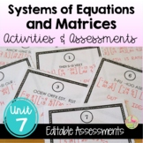 Systems and Matrices Activities & Assessments (PreCalculus