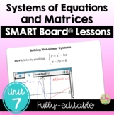 PreCalculus: Systems and Matrices SMART Board® Lessons Bundle