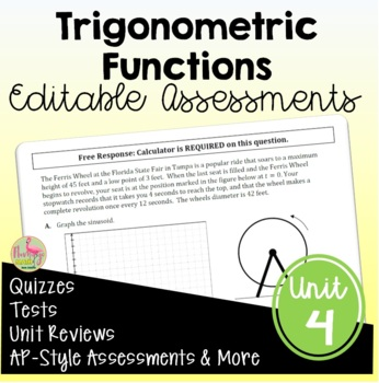 PreCalculus: Trigonometric Functions Assessments Only