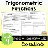 Trigonometric Functions Essentials with Lesson Videos (Unit 4)