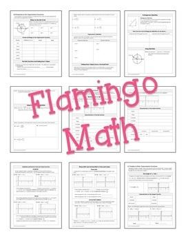 PreCalculus: Trigonometric Functions Guided Notes Bundle