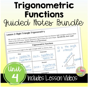 Trigonometric Functions Guided Notes (PreCalculus - Unit 4)