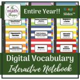 PreCalculus WHOLE YEAR Digital Vocabulary Interactive Notebook | Google Slides™