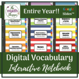 PreCalculus WHOLE YEAR Digital Vocabulary Interactive Note
