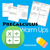 PreCalculus Warm Ups