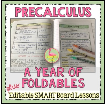 PreCalculus: Year of Foldables With SmartBoard Lessons