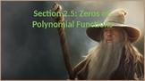 PreCalculus: Zeros of Polynomial Functions