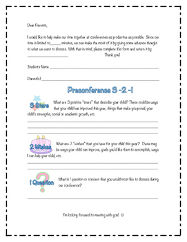 PreConference Form