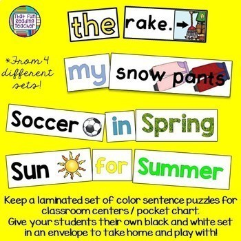 Sight Word Leveled Readers, Sentence Puzzles and Activities: PreEmergent 10pk
