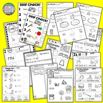 Sight Word Leveled Readers, Sentence Puzzles & Activities: PreEmergent Bundle