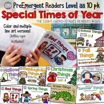 Seasonal PreEmergent Readers and Activities
