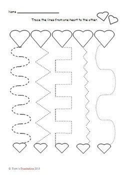 Valentine's Day Fun for PreK-1 - matching letters, counting, even/odd, and more