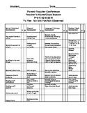 PreK-1st Grade  Assessment & Conference Checklist