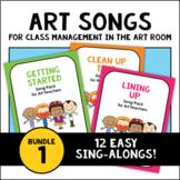 PreK-2 Art Room Song Poster Bundle 1: Getting Started, Cle