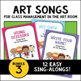PreK-2 Art Room Song Poster Bundle 3: Scissors, Write Your