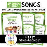 PreK-2 Art Room Washing Hands Song Posters