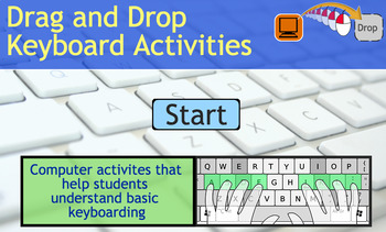 PreK - 3rd Drag and Drop Computer Keyboarding - Locating Keys