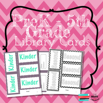 PreK-5th Library Cards