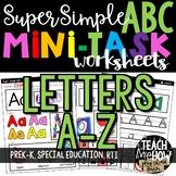 Super Simple ABC: Alphabet Letter Worksheets, NO PREP Diff