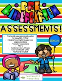 Bilingual PreK Assessment-Literacy, Numeracy & More! (w/Editable TSG sheets)