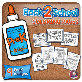 PreK Back to School Coloring Pages