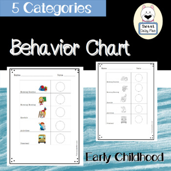 PreK Behavior Chart