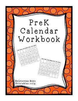 PreK Calendar Workbook - 2015-2016