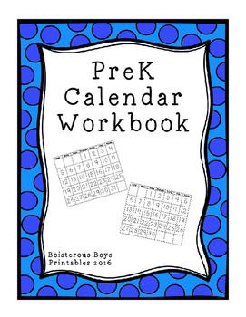 PreK Calendar Workbook 2016-2017