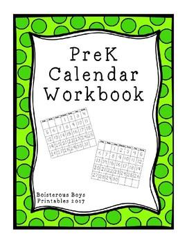 PreK Calendar Workbook 2017-2018