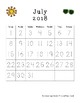 PreK Calendar Workbook - 2018-2019