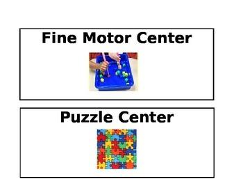PreK Center Signs