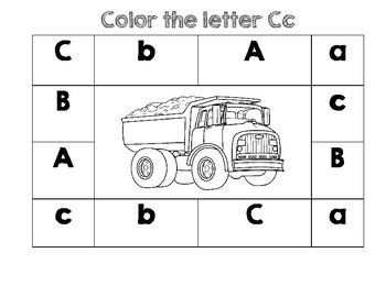 PreK Color Worksheet- Letter C