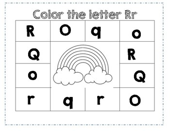 prek color worksheet letter r by ashleigh b madsen tpt. Black Bedroom Furniture Sets. Home Design Ideas