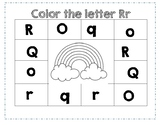 PreK Color Worksheet- Letter R